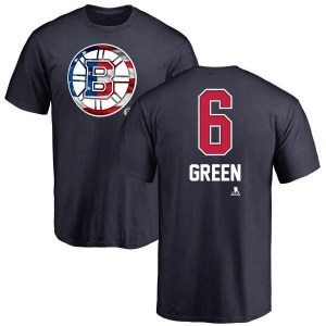 Ted Green Boston Bruins Youth Green Name and Number Banner Wave T-Shirt - Navy