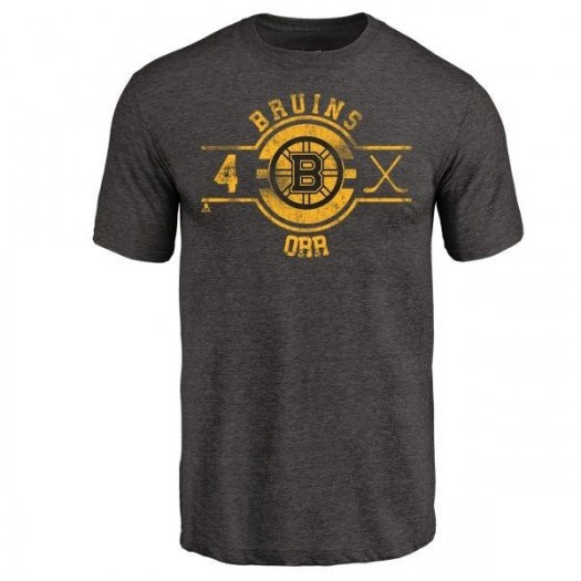 Bobby Orr Boston Bruins Youth Black Branded Insignia Tri-Blend T-Shirt -