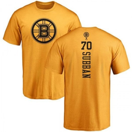 Malcolm Subban Boston Bruins Youth Gold Branded One Color Backer T-Shirt -